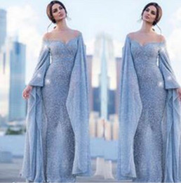Myriam Fares V Dress Australia - Evening dress Yousef aljasmi Long Dress Long Sleeve Crystal Tulle V-Neck Sheath Muslism Kim kardashian Myriam Fares ex
