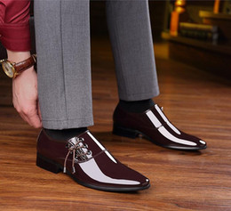 pointy black dress shoes men 2018 - 2019 New Style Luxury Brand Spring Autumn Men Formal Wedding Shoes Luxury Men Business Dress Shoes Men Loafers Pointy Sh