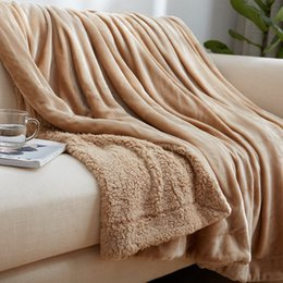 Quality Fiber NZ - Freeshipping hot 100%High quality polyester fiber Blanket Super Soft Warm Fuzzy Lightweight Bed or Couch Blanket