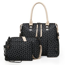 Chinese  2018 New Women Handbags Composite Bags Buy One Get Four High Quality PU Leather Fashion Sweet Ladies Shoulder Bags Set free shipping manufacturers