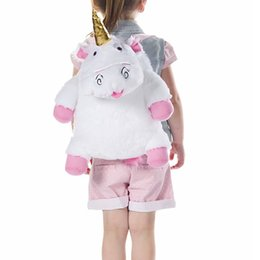 Chinese  Fashion Cartoon Unicorn Cotton Backpack Cute Animal Backpacks For Women Girls Travel Female Backpack Rucksack Stuffed Toys manufacturers