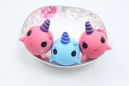 Discount blue whale toy - Kawaii Cute Squishy Pink Whale Millie Cartoon Collectible Squeeze Elasticity Stretch Vent Bread Cake Kid Toy Gift