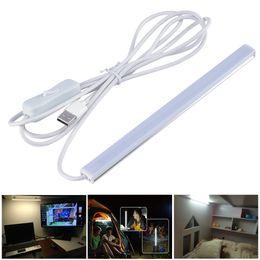 $enCountryForm.capitalKeyWord NZ - 2pcs 50cm USB Table Lamp Power Bank Supplied 5V 2835 LED Strip LED Bar Light for Dormitory Bunk Beds Camping Hiking Night Light