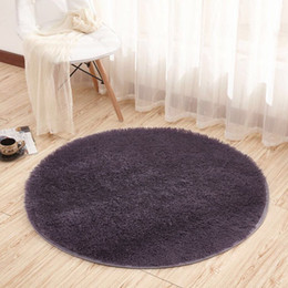 Wholesale Ultra Soft Round Rugs for Bedroom Anti slip Shaggy Kids Room Carpets Children Play Tent Mat Home Décor Rugs cm