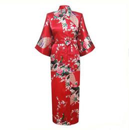 cdf1593d10 Japanese Women Bathrobe UK - 6 Blue Plus Size XXXL Chinese Women Satin Robe  Gown Japanese