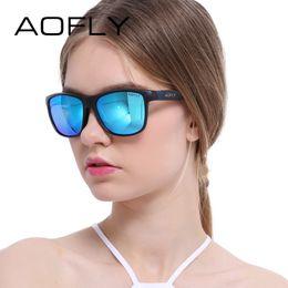 9437e16046 AOFLY Polarized Sunglasses Men Women Original Brand Designer Polaroid Reflective  Mirror Sun Glasses Unisex Goggle gafas de sol