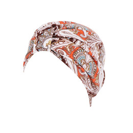 Chinese  2018 High Quality Crystal Women India Muslim Stretch Turban Hat Floral Cotton Hair Loss Head Scarf WrapGifts For Dropshipping manufacturers