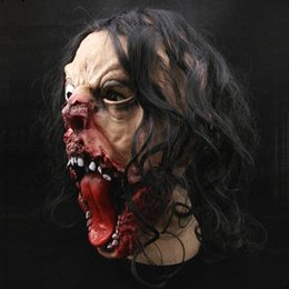Pig Face Masks Australia - 2017 Halloween Costume Scary Bloody Head Halloween Decoration Props Horrible Decora O Vinyl Pig Cosplay Party Mask