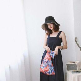 Hand Bags Types Australia - New Fashion Japanese Types 4 Colors High Capacity Nylon Supermarket Shopping Bag Hand Shoulder Bag For Lady Women