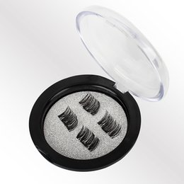 Chinese  Hot Sale 4Pcs set 3D Magnetic False Eyelash Magnet False Eyelashes Directly Adsorbed on True Eyelashes Magnetic Eye Lashes Makeup Kit Gift manufacturers