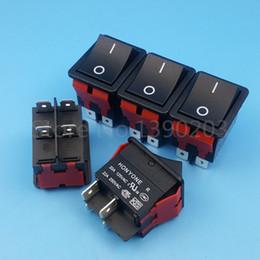 Venta al por mayor de Coche 5Pcs Negro 4Pin DPST 2Posición ON-OFF Interruptor basculante 22A / 250VAC para máquinas de soldadura de alta corriente