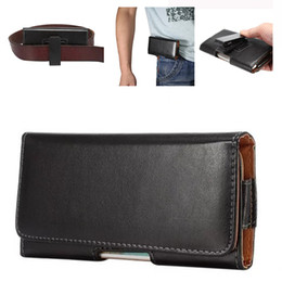 Leather beLt cLips online shopping - Univesal Luxury Belt Clip Wallet Case Leather Phone Pouch Waist Bag for iPhone X Huawei P9 Plus Sony Z5 LG Redmi OPP
