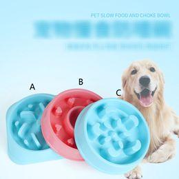 Ingrosso 9 Style Pet Puppy Puppy Slow Food Bowl Anti soffocamento cibo piatto d'acqua Slow Feed Feeding Bowl B