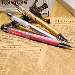 Metal Ballpen UK - 11 Colors 2 in 1 crystal stylus pen touch pen Cute Crystal Diamond ballpoint pens Stationery ballpen