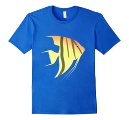 Aquarium Brands UK - Angel Fish T-shirt Tropical Aquarium Scuba Snorkel Ocean T Shirts Casual Brand Clothing Cotton New 2018 Fashion Hot