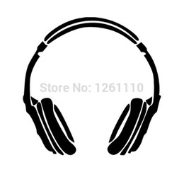 Imac Macbook Australia - HotMeiNi Wholesale 20pcs lot Headphone Music DJ Wall Vinyl Decals Stickers For Truck Suv Car Laptop Locker Glass Macbook Pro Imac Ref