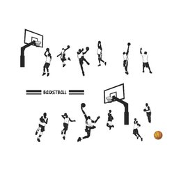 $enCountryForm.capitalKeyWord Australia - DIY Play Basketball Sports Wall Stickers PVC Removable Slam Dunk Wall Decals Personality Wallpaper for Living Room and Boys Room Decoration