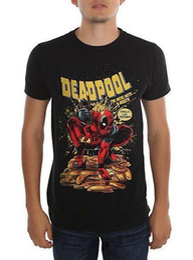 $enCountryForm.capitalKeyWord Australia - Marvel Comics Deadpool Merc With A Mouth Slim-Fit T-Shirt Short Sleeve Round Neck T Shirt Promotion Print T-Shirt Men