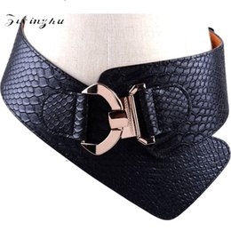 wide waist belts Australia - Cowhide Leather Wide Belts Delicate Elastic Bow Design Straps Upscale Gold Buckle Waist Seal For Women 35jz B