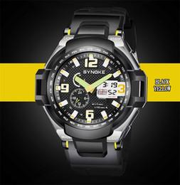 Men Digital Wrist Watches Australia - SYNOKE Men Fashion Sport Analog Digital Quartz Watch Top Brand LED 50M Waterproof Swim G Style Outdoor Sport Shock Wrist Watch 67606
