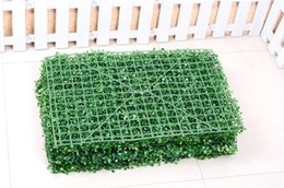 plastic carpets Australia - Flower Green Grass Artificial Turf Plants Garden Ornament Plastic Lawns Carpet Sod For Wedding Xmas Party Decor 40x60cm New Year