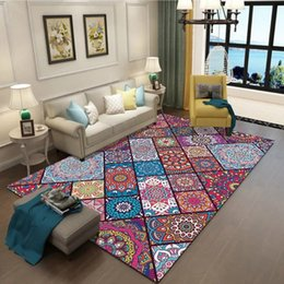 chinese customs 2019 - Vintage Art Ethnic Chinese Style 3D Carpet Lving Room Bedroom Study Mat Machine Washable custom Rug Home Accessories dis