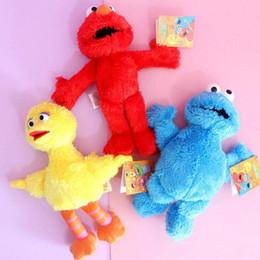 Venta al por mayor de Caliente ! 3 Estilo Elmo Big Bird Cookie Monster Sésamo Street Plush Muñeca de peluche de juguete para niños Holiday Gifts 9