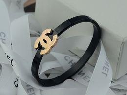 EnamEl zodiac charms online shopping - High Celebrity Design Letter Metal Buckle Diamond Pearl Bracelet Fashion Metal Clover Cuff Bracelet Jewelry With Box