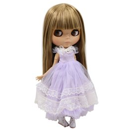 $enCountryForm.capitalKeyWord UK - ICY Nude Doll Serires No.230BL0662 Brown Straight hair JOINT body burning skin with big breast Factory Blyth ICY Nude Blyth Doll