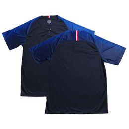 5aaf1af6f 2 Stars 2018 France Nation Jersey 18 19 France World Cup Soccer Jersey Home  Color blue black Size S-XL football uniforms