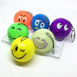 silicone cakes decoration NZ - Flash ball colorful colorful ball key buckle twist toy expression gift small gift LED vibration electronic wholesale