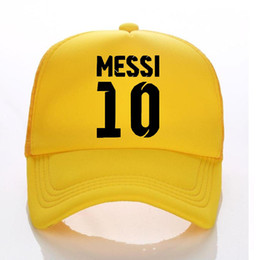 38a650e62ad 2018 World Cup MEESI Kids Trucker Hat Summer Child Adult Baseball Hats Sun  Caps Boy Snapbacks Fans of Messi 10 brazil football Cap