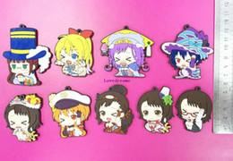 Wholesale Pendant Sets NZ - 45 pcs 5 set Anime Nisekoi Figures Kirisaki Chitoge Onodera Haru Premium pvc Figure Phone Strap Pendant Toys Free Shipping