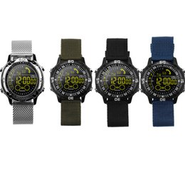 SmS home alarm online shopping - IP67 Waterproof EX28A Smart Watches With Round Screen Call SMS Reminder Sport Bluetooth Wristband Remote Camera Alarm Clock Luxury Watch