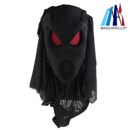 cosplay costumes black dress NZ - Latex Black Face Mask Scary Halloween Party Costume Cosplay Popular Dress Props