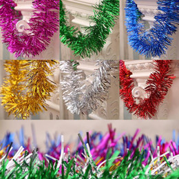 Flower Christmas Ornament Australia - New Christmas Tree Decoration Colorful Strips Pull Flower Ribbon Encryption Multicolor Wedding Party Hanging Ornaments Garland
