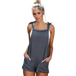 724bd3a2138 2018 summer womens jumpsuit romper Straps Jumpsuits Overalls Shorts Pants  summer bodysuit Romper short womens jumpsuit x30618