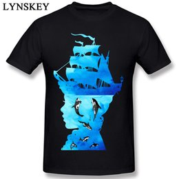 unique clothing designs Australia - Art Design Men's T-shirt Cotton Tops Tees Short Sleeve O-neck Summer Fall Fashion Clothing Unique Whales