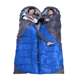 Weather Bags Australia - 2.2 kgs Waterproof Camping Sleeping Bag Winter Outdoor Splicing Double Sleeping Bags For Lovers Sleep Bag For Women Cold Weather