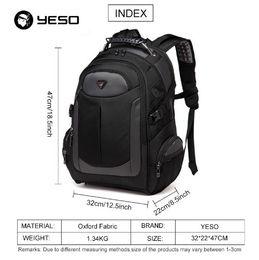 0be5160896c YESO Brand Laptop Backpack Men's Travel Bags 2018 Multifunction Rucksack  Waterproof Oxford Black Computer Backpacks For Teenager