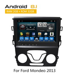 Dvr Car Built Gps NZ - 8 Core 2G RAM Android Double Din Car DVD GPS For Ford Mondeo 2013 WIFI 4G GPS BT OBD DVR