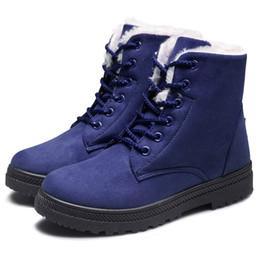 $enCountryForm.capitalKeyWord UK - Fashion Snow Boots Women Plush Boots Winter Red Ankle for Women Fur Insole Plus Size Booties 2018 Woman Botas Feminina