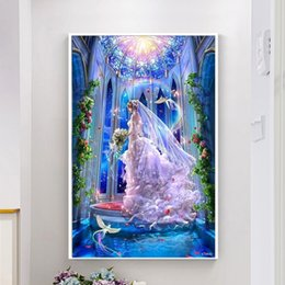 $enCountryForm.capitalKeyWord NZ - New diamond embroidery anime wedding girl 3D picture round rhinestone 5D DIY full square diamond painting mosaic gift decoration