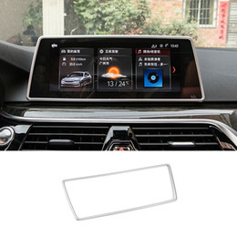 Discount bmw navigation screen - Car Inner Console Dashboard GPS Navigation NBT Screen Frame Cover Trim Accessories For BMW 5 series G30 G38 6GT GT6 2018