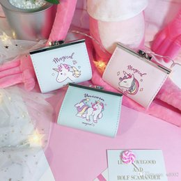 $enCountryForm.capitalKeyWord NZ - Cartoon Unicorn Wallet Luxury Designer Brand Women Purse Cute Student Short Style Coin Storage Bag Portable 6 5la cc