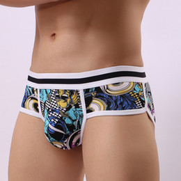 $enCountryForm.capitalKeyWord Australia - Briefs 3pcs  Lot Printed Sexy Underwear Men Briefs Cotton Hot Man Jock Strap Push Up Cuecas Shorts Gay Male Panty Underpant Low Rise