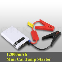 Car Emergency Start Australia - High Power 12000mAh Car Battery Charger Emergency Car Jump Starter 12V Petrol Diesel Buster Starting Device LED Lights