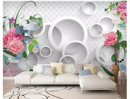 pictures for nursery walls NZ - 3D wall murals wallpaper custom picture mural wall paper Modern warm romantic 3D rose TV background wallpaper for walls 3d home decor