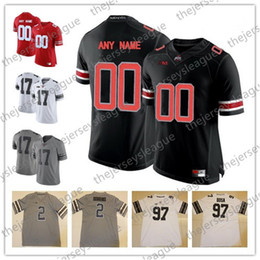 3ce725e07 Ohio State Buckeyes NCAA College Football Custom Limited Stitched  Personalized Any Name Number White Black Red  97 Bosa Jerseys S-3XL
