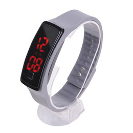 Screen candy online shopping - hot sale Sport LED Watches Candy Jelly men women Silicone Rubber Touch Screen Digital Watches Bracelet Wrist watch